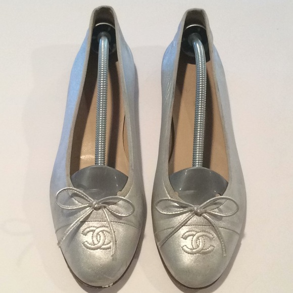90900aa59f61 CHANEL Shoes - ✅Chanel Silver Ballerinas EU 40.5 Made in Italy